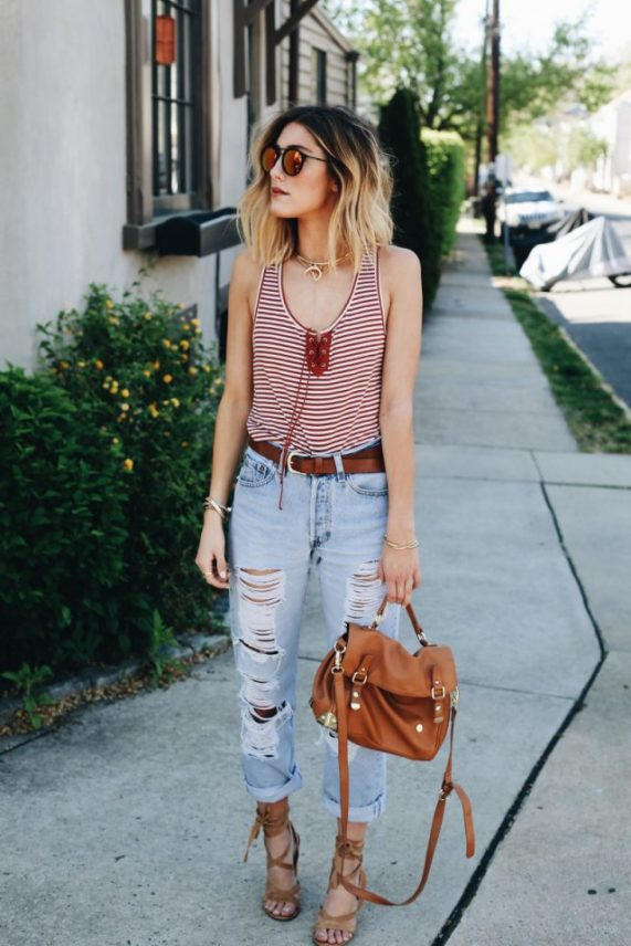 latest-western-street-style-women-stripes-clothes-2016-17-1